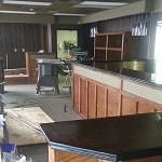 New bar and paneling