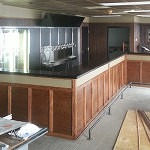 New bar with 20 shiny new taps behind it